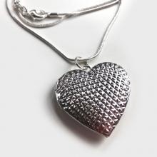 Zilveren Heart medaillon