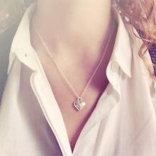 Zilveren Love ketting